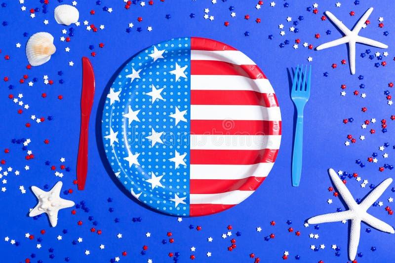 Décorations de vacances des Etats-Unis photo libre de droits