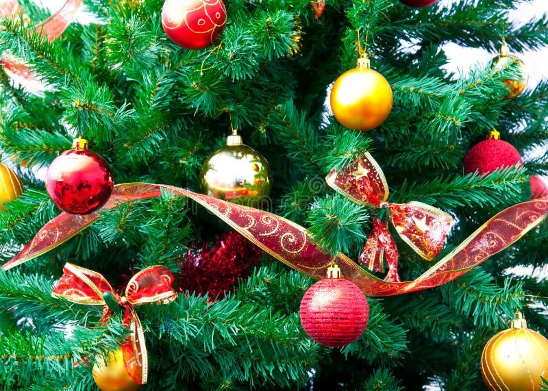 Décorations Et Arbre De Noël Photo stock