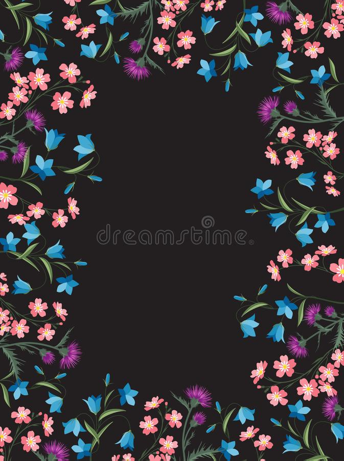 Décorations florales d'été illustration stock