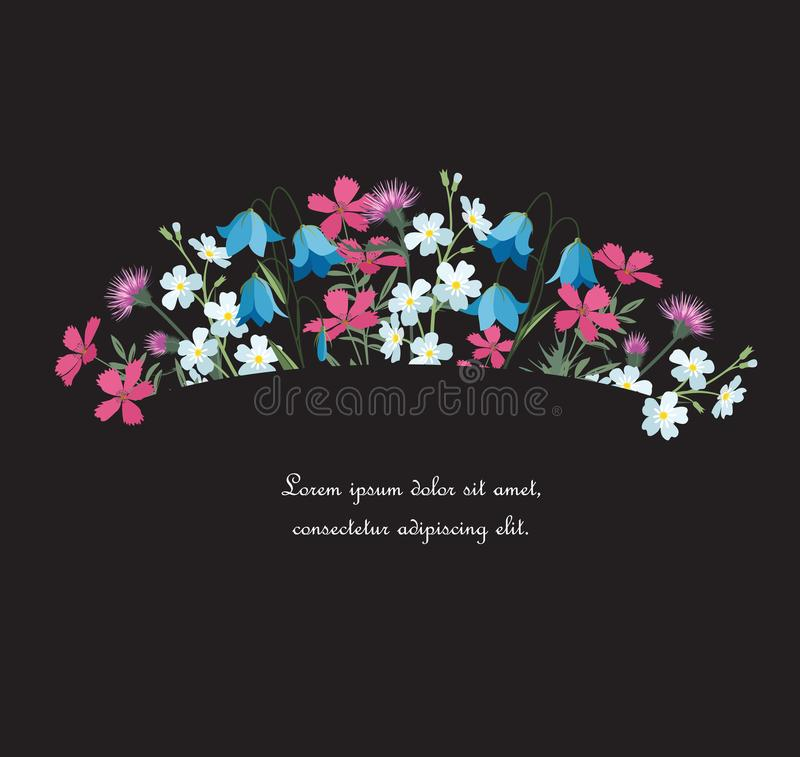 Décorations florales d'été illustration libre de droits