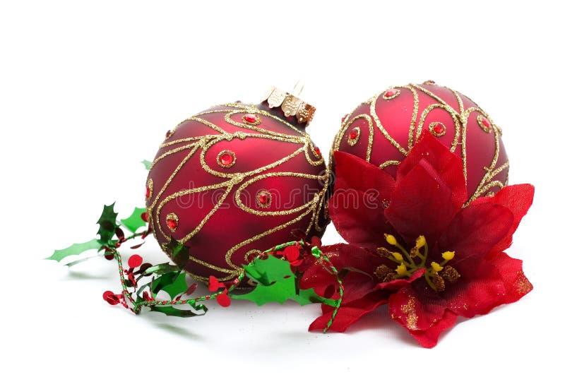 Décorations rouges de Noël image libre de droits