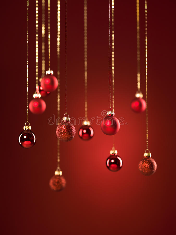 Décorations rouges de Noël images stock