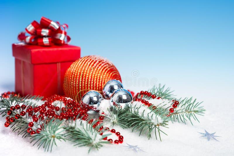 Décorations rouges de Noël photos stock