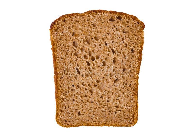 Découpé en tranches du pain de seigle, d'isolement sur un fond blanc image stock