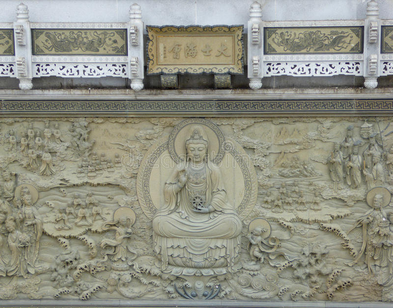 Découpage bouddhiste photos stock