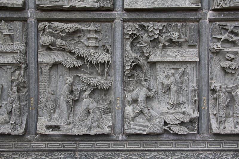 Découpage chinois de pierre images stock