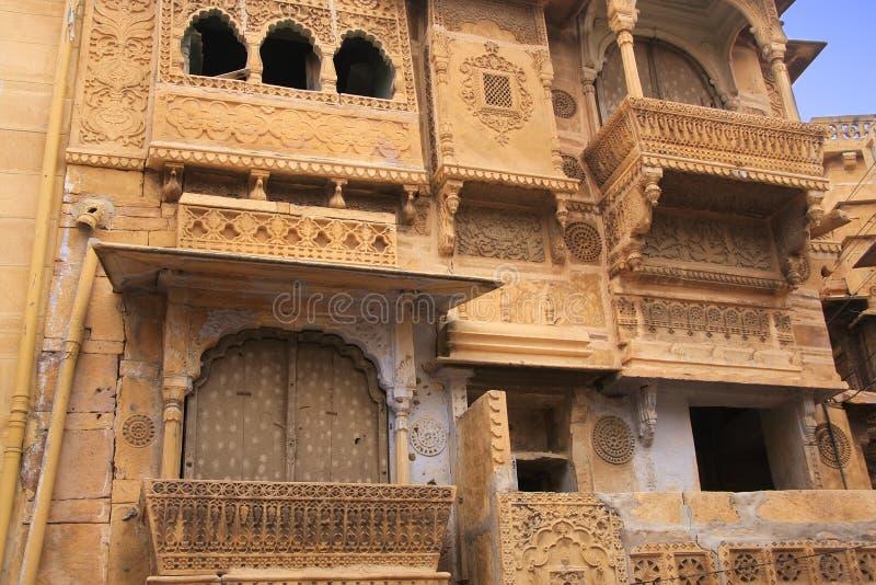 Download Découpage Décoratif Sur Le Haveli Traditionnel, Jaisalmer, Inde Image stock - Image du cityscape, historique: 45359327