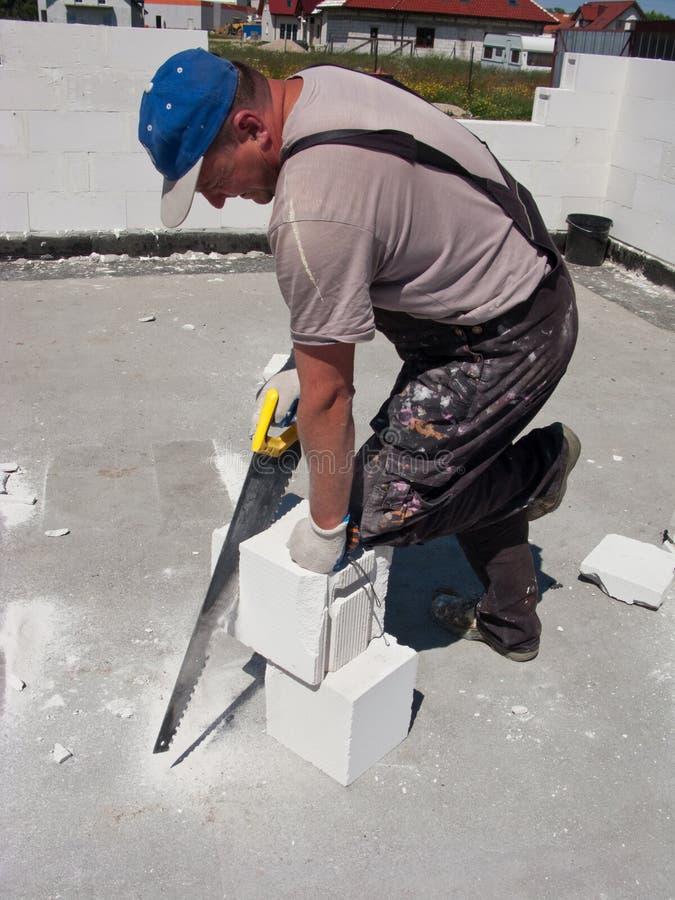 Découpage de brique photo libre de droits