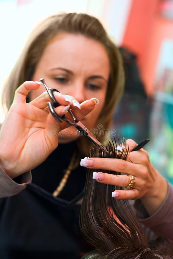 Découpage de cheveu photos stock