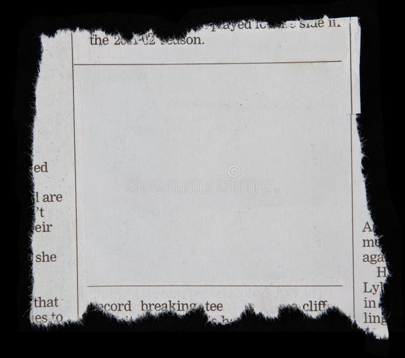 Découpage de journal image libre de droits