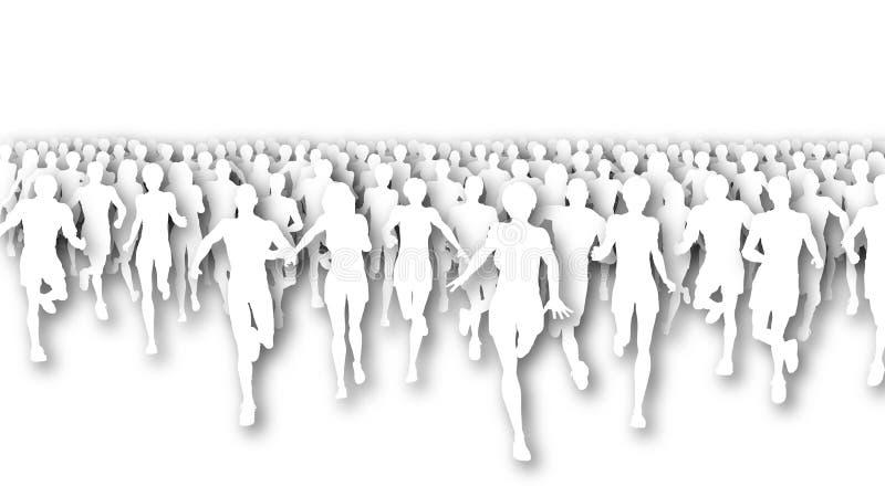 Découpage de marathon illustration libre de droits