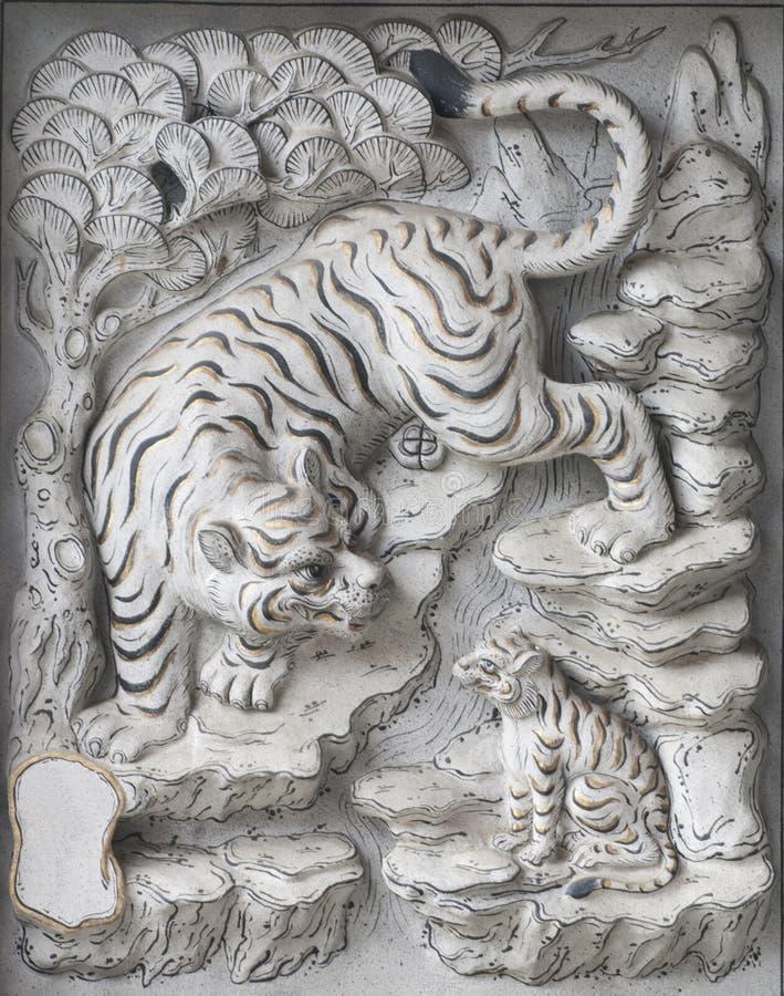 Découpage de pierre de temple. images stock