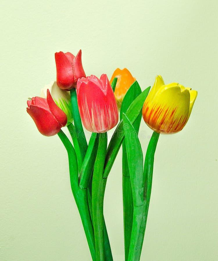 Découpage du bois de la tulipe image stock