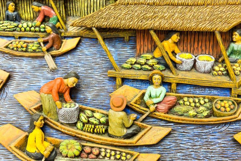 Découpage en bois de la Thaïlande photos libres de droits