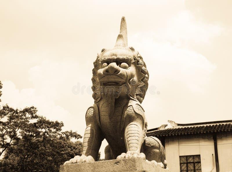 Découpage en pierre de Lu duan images stock