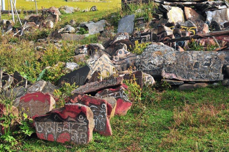 Découpage en pierre du Thibet Armani images stock