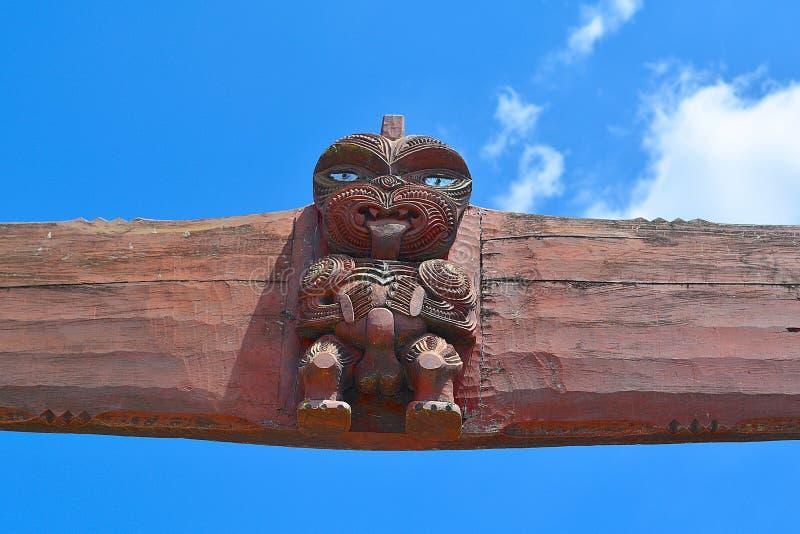 Découpage maori Quelque part en Nouvelle Zélande photographie stock