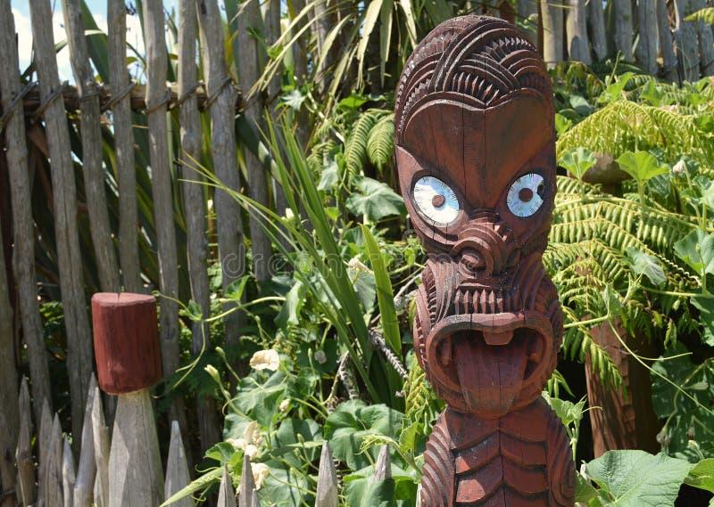 Découpage maori Quelque part en Nouvelle Zélande images libres de droits