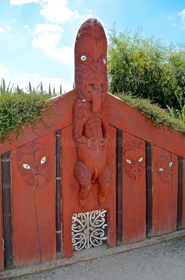 Découpage maori Quelque part en Nouvelle Zélande photos libres de droits