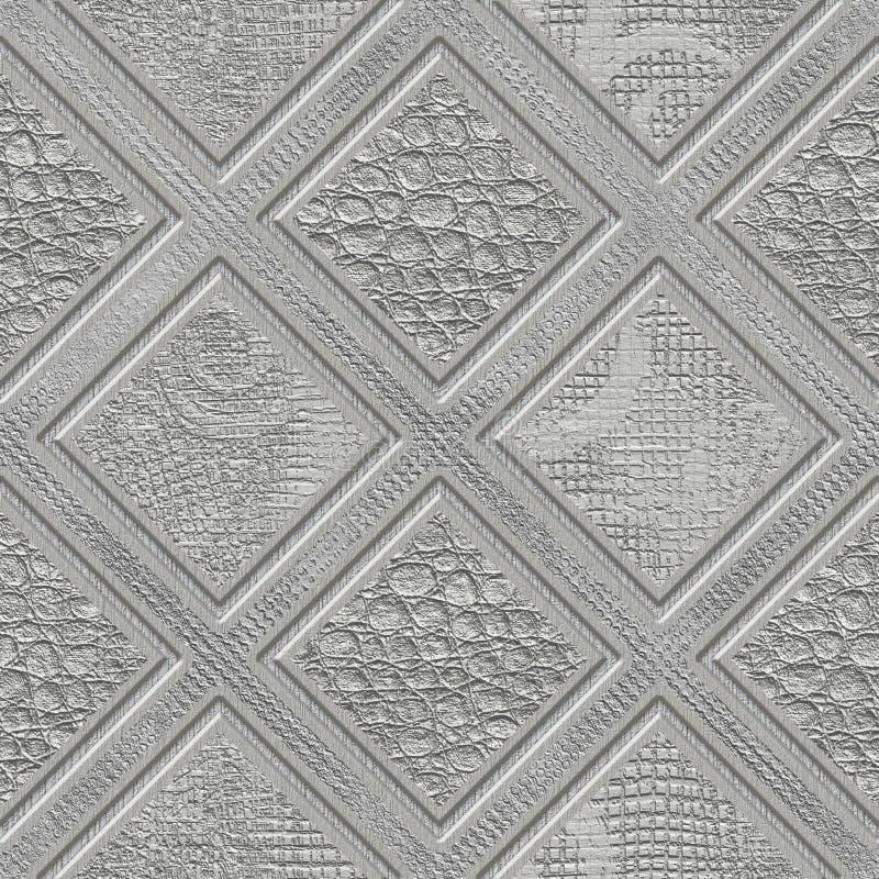 Découpant le modèle de places sur la texture sans couture de fond, modèle de patchwork, couleur en pastel, texture de plâtre, ill illustration stock