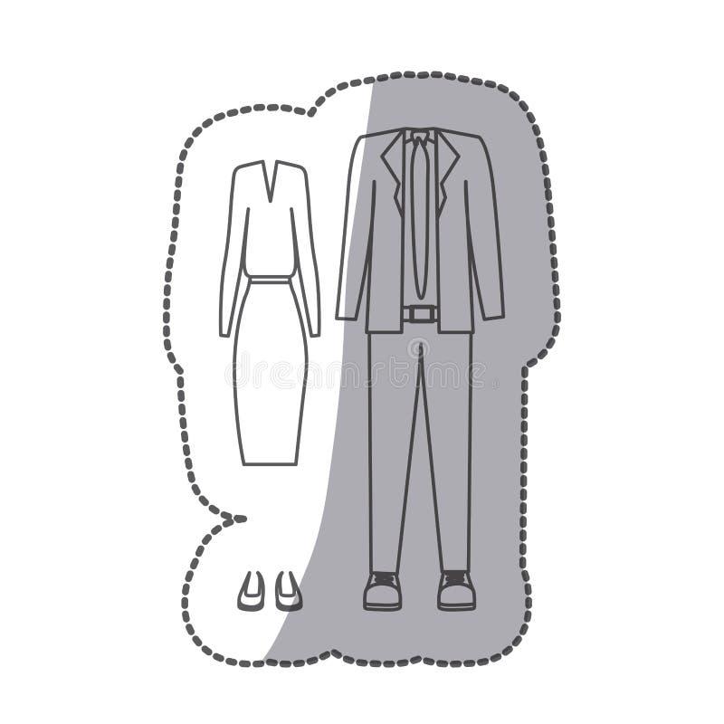 découpe avec l'habillement formel de costume illustration libre de droits