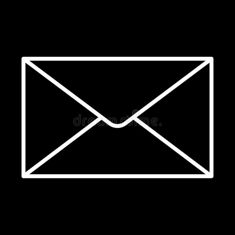 Download Découpe Blanche D'icône Fermée D'enveloppe Sur Le Fond Noir De L'illustration Illustration Stock - Illustration du correspondance, blanc: 87708766