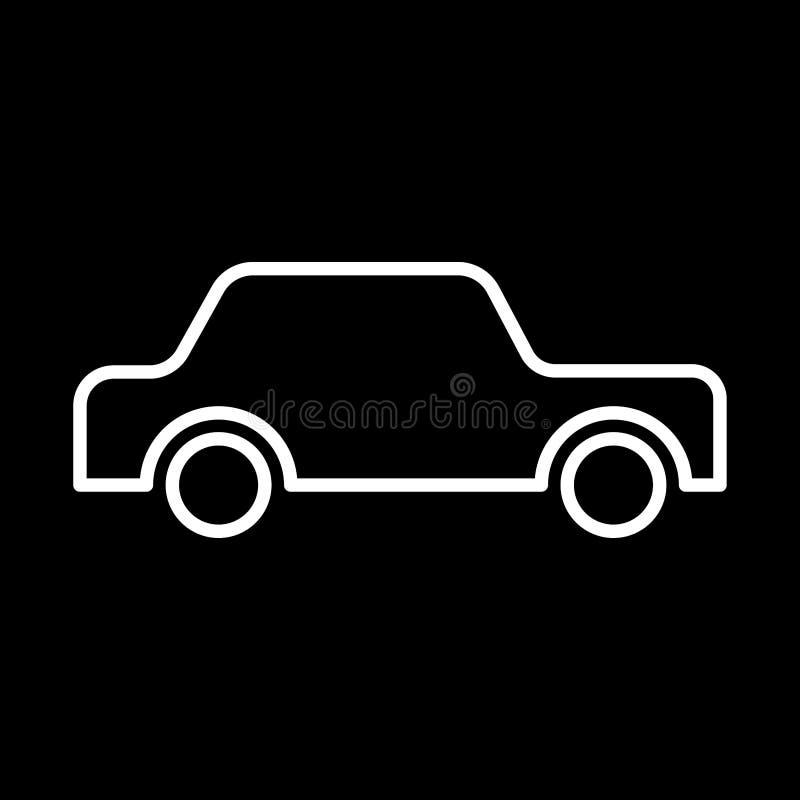 d coupe blanche de voiture d 39 ic ne sur le fond noir de l 39 illustration illustration stock. Black Bedroom Furniture Sets. Home Design Ideas