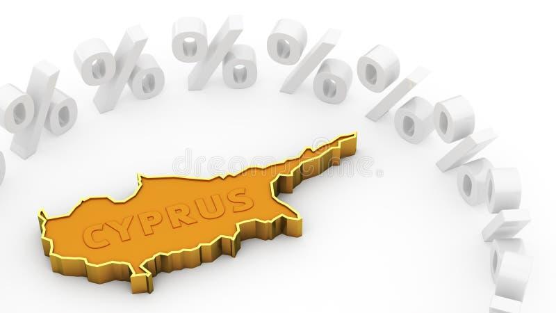 Crise de la Chypre illustration stock