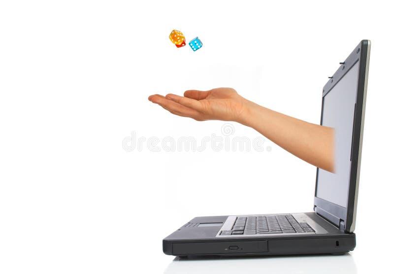Découpe de l'ordinateur portatif images stock