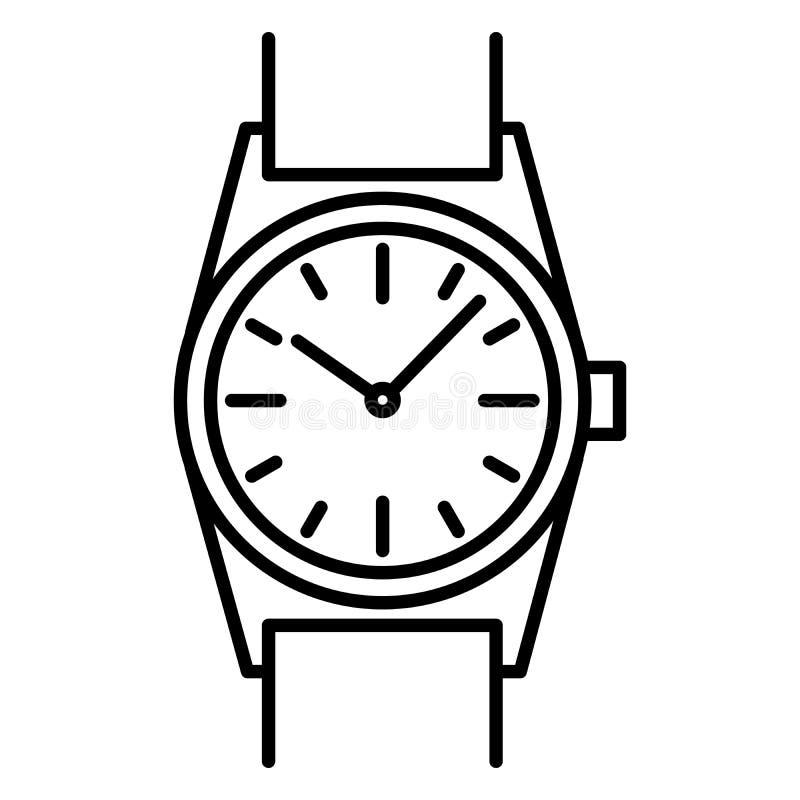 Download Découpe De Noir D'icône De Montre-bracelet Sur Le Fond Blanc De L'illustration De Vecteur Illustration de Vecteur - Illustration du objet, isolement: 87708747