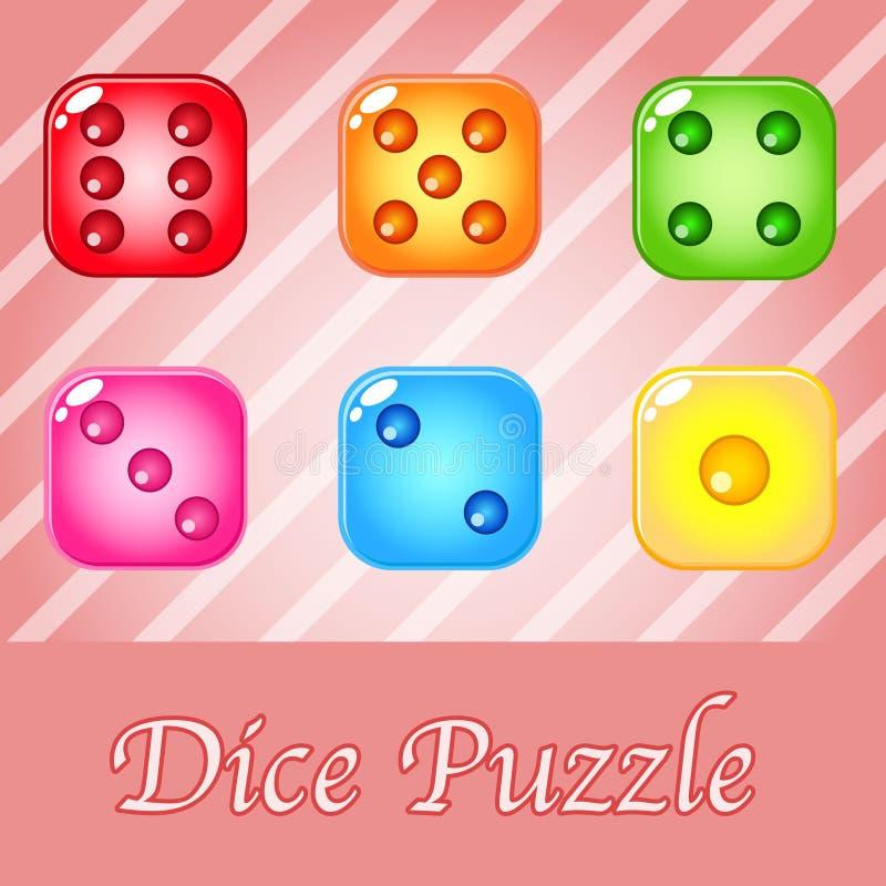 Découpez coloré pour le jeu de puzzle illustration stock