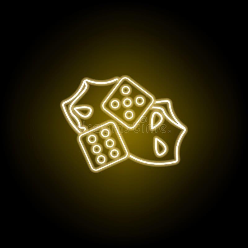 Découpez l'icône de théâtre dans le style au néon jaune Élément de vecteur d'illustration de théâtre Signes et ic?ne de symboles  illustration de vecteur
