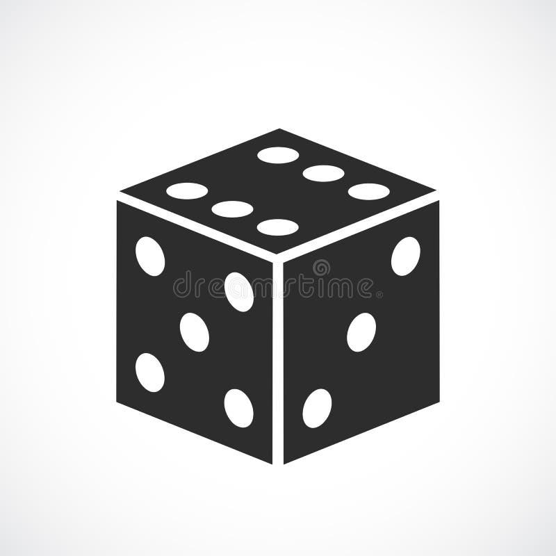 Découpez l'icône de vecteur de jeu illustration stock