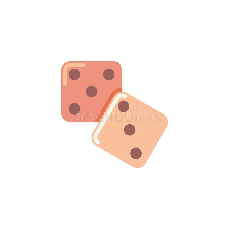 Découpez l'icône plate de jeu illustration stock
