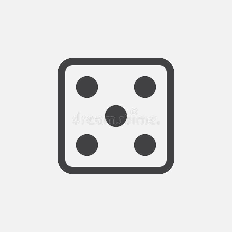 Découpez l'icône, illustration de logo de vecteur, pictogramme d'isolement sur le blanc illustration libre de droits