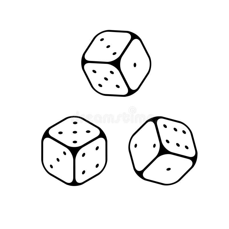 Découpez la ligne objets de jeu d'icônes illustration de vecteur