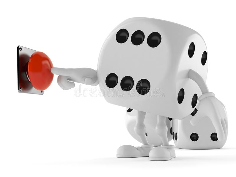 Découpez le bouton-poussoir de caractère illustration libre de droits