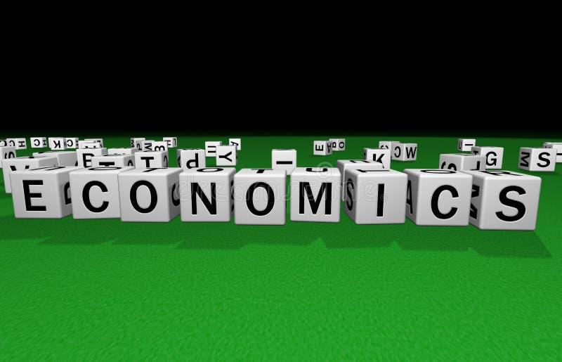 Découpez les sciences économiques illustration libre de droits