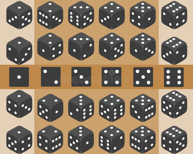 Découpez, un ensemble de matrices, matrices de jeu illustration de vecteur