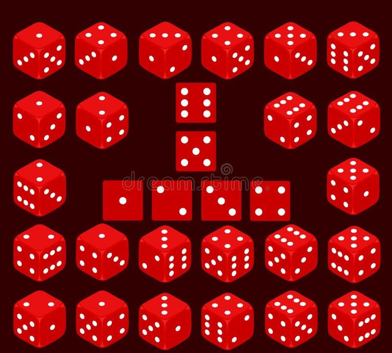 Découpez, un ensemble de matrices, matrices de jeu illustration stock