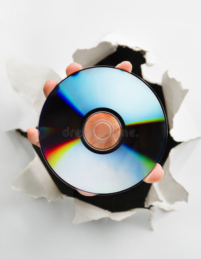 Découverte dans le dispositif de supports de stockage photos libres de droits