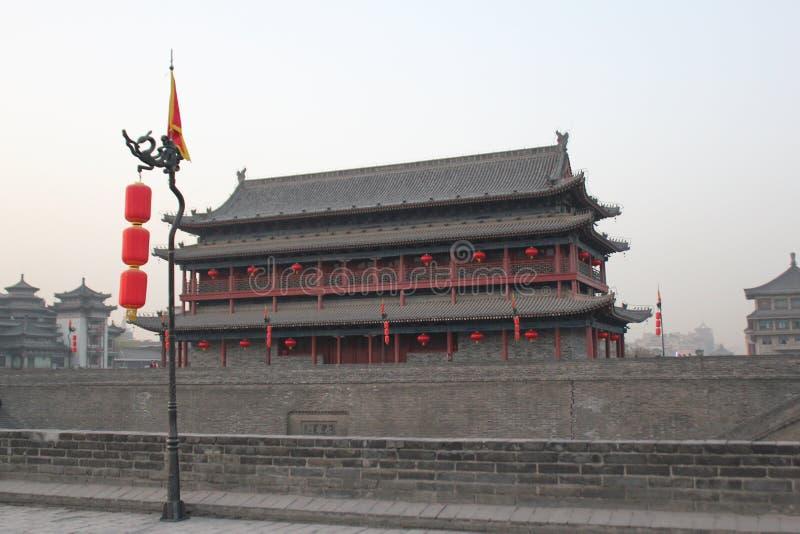 Découverte de la Chine : Mur de ville antique de Xian photos stock