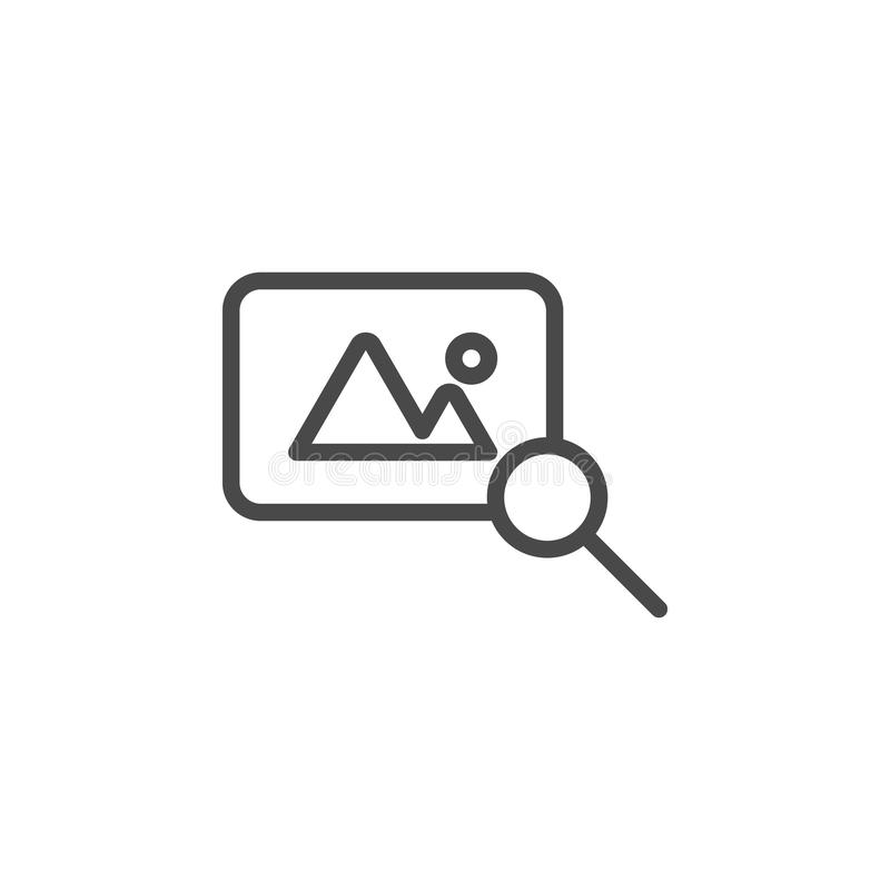 Découverte, icône de vecteur de photo Ic?ne minimaliste de vecteur d'ensemble de multim?dia illustration de vecteur