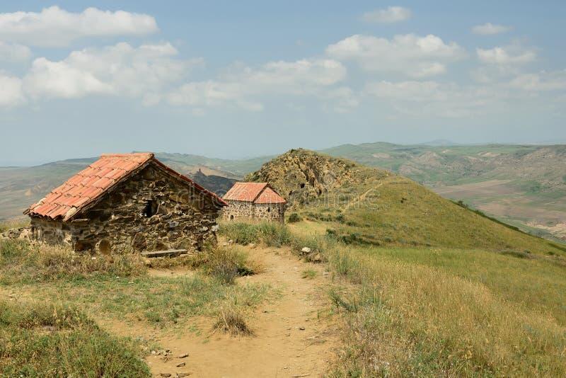 Découvrez le davier Gareja un du plus grand complexe de monastère en Géorgie image libre de droits