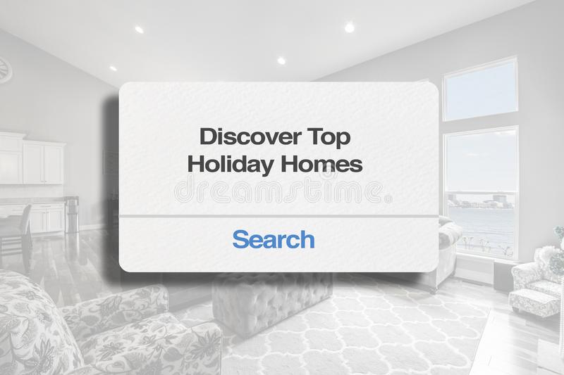 Découvrez les vacances supérieures à la maison image stock