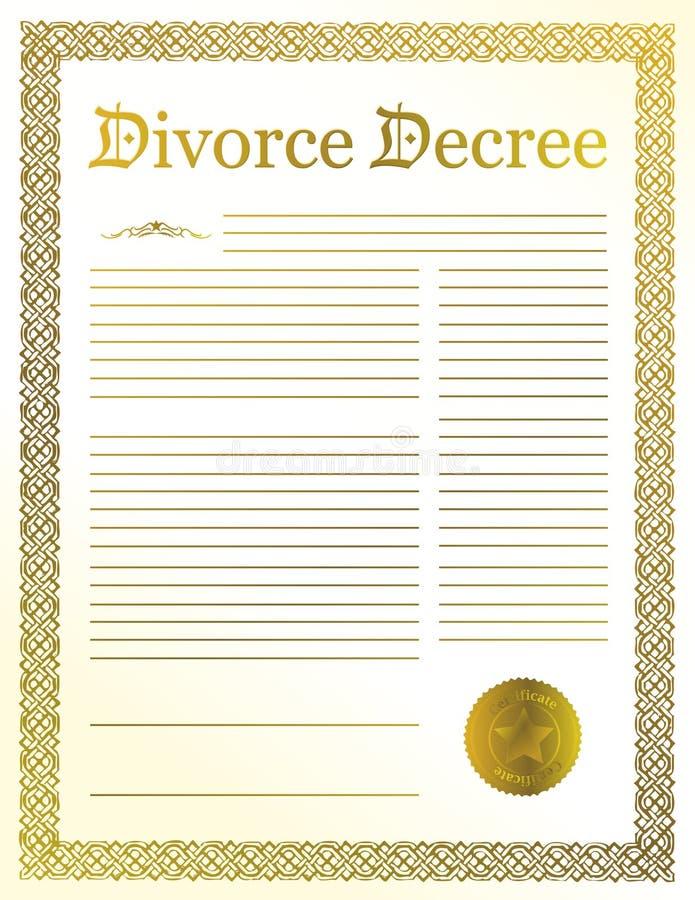 Décret de divorce illustration de vecteur