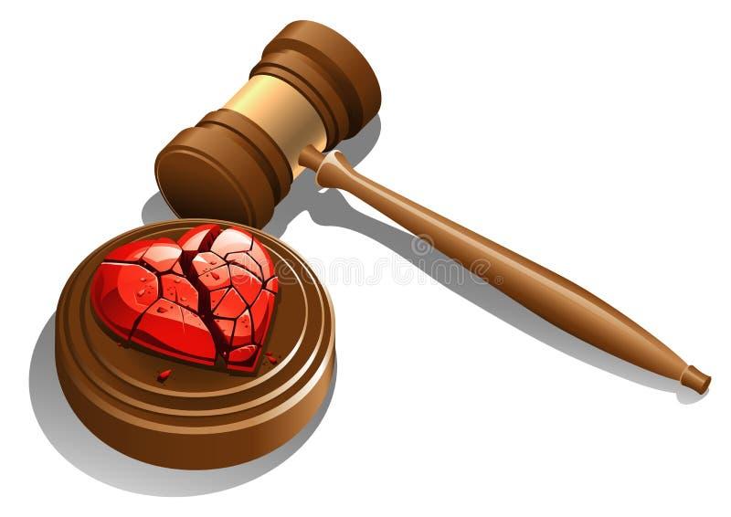 Décret de divorce illustration stock