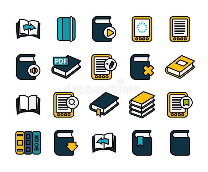 Décrivez la conception plate d'icônes légèrement, ligne moderne course illustration stock