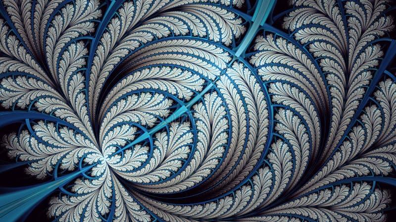 Dédoublez la fractale infinie de papillon d'elliptice illustration de vecteur