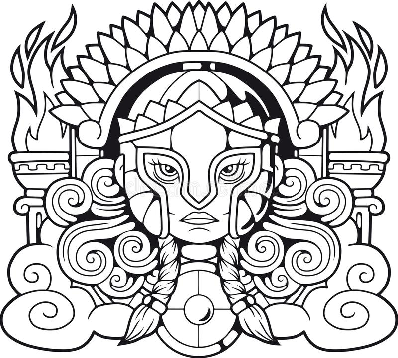 Déesse Athena Pallas du grec ancien illustration libre de droits